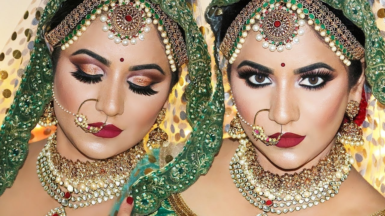 Royal Indian Bridal Makeup By Smithadbeauty - Youtube pertaining to Indian Bride Makeup Photos