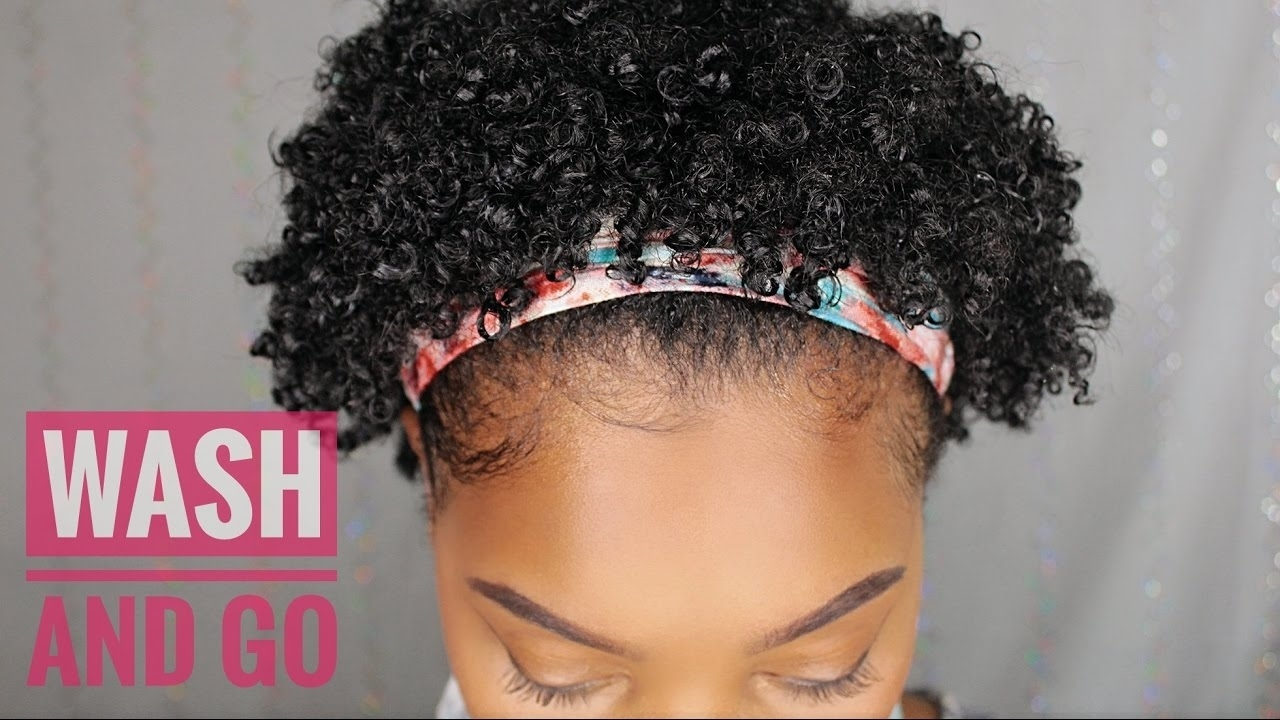 Short Natural Hair | Wash And Go - Youtube intended for Short Wash And Go Styles