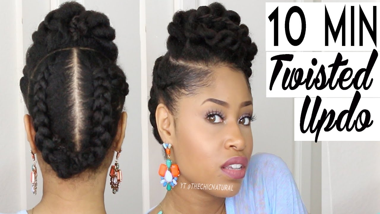 The 10 Minute Twisted Updo   Natural Hairstyle - Youtube with Twist Updo Natural Hair Styles