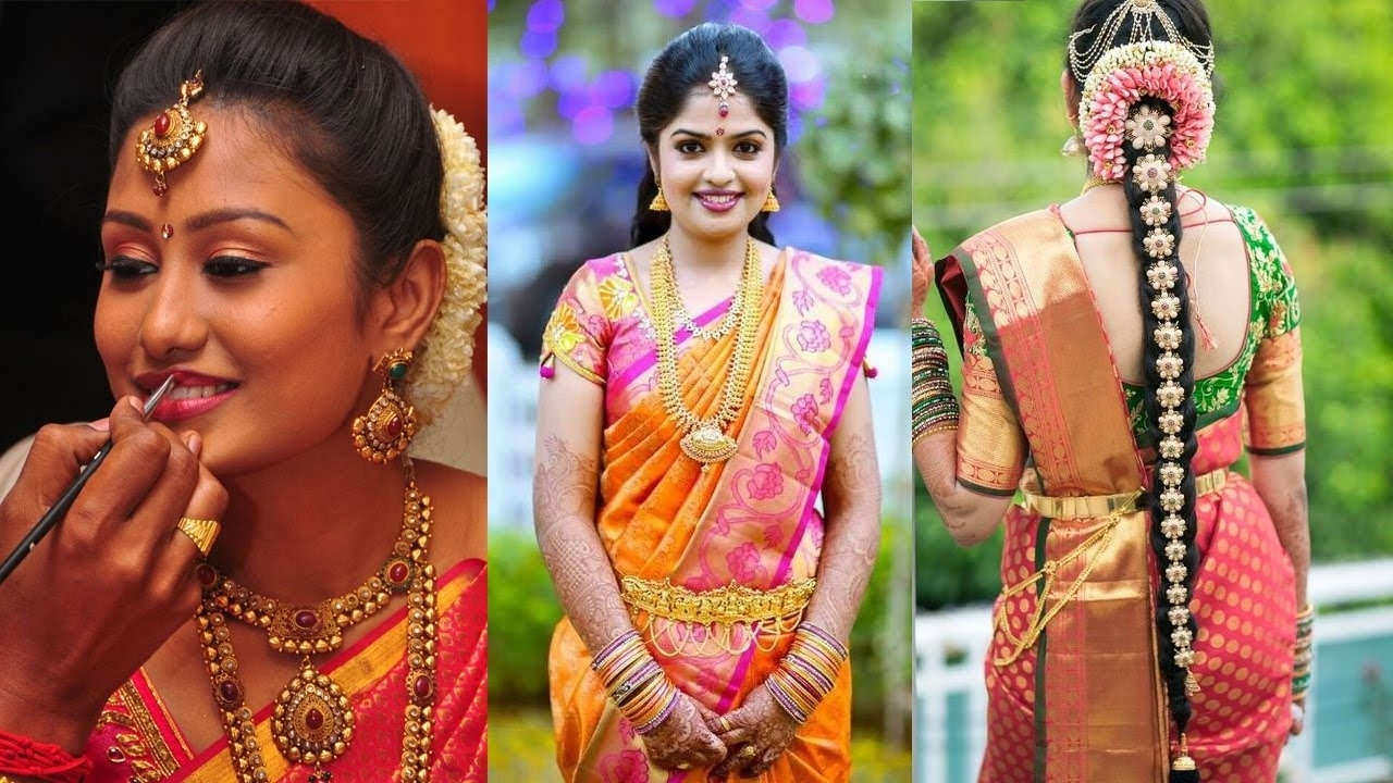 Traditional South Indian Bridal Makeup & Hairstyle   Step By Step inside South Indian Bridal Hairstyle Videos