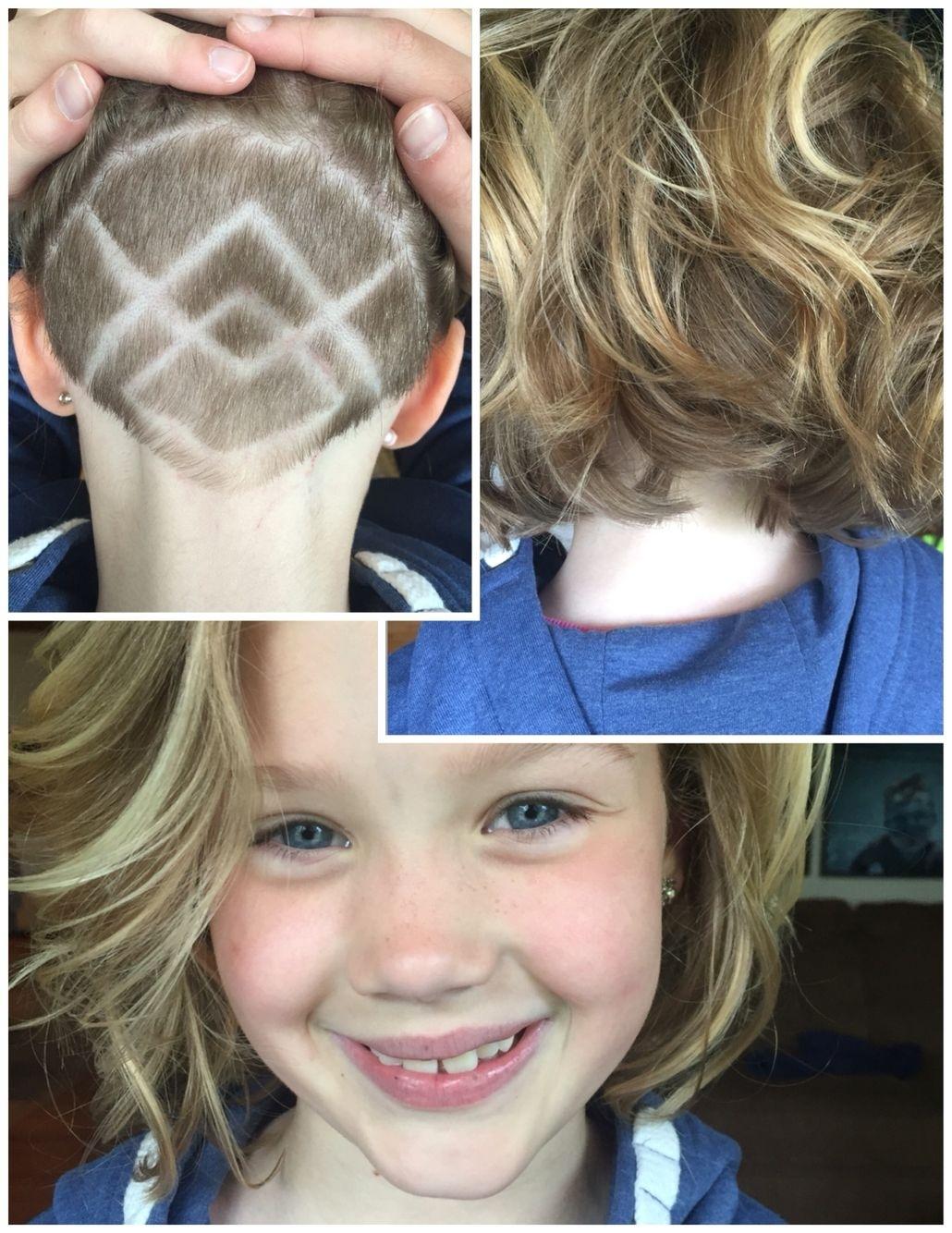 little girls shaved undercut haircut - wavy haircut