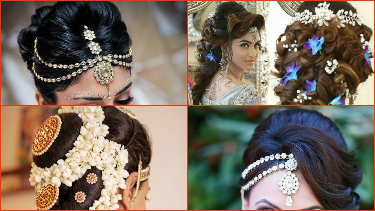 10 Most Beautiful Indian Bridal Hairstyle Images with Beautiful Indian Hairstyles For Long Hair