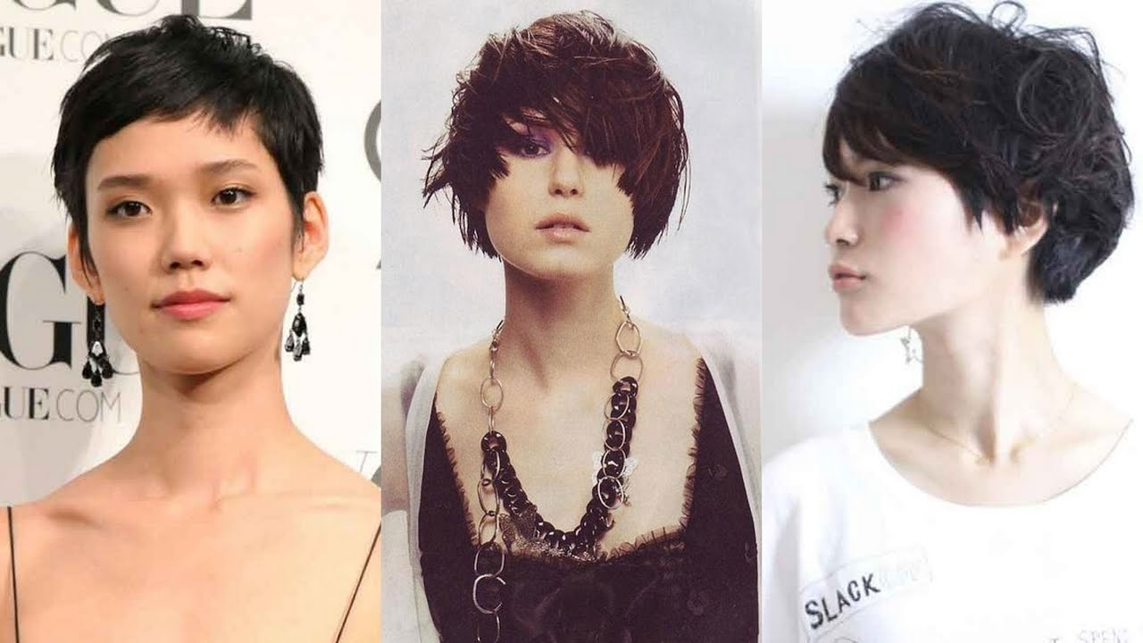20 Best Asian Short Hairstyles For Women - Youtube regarding Top-drawer Lady Short Hairstyles Asian Round Face