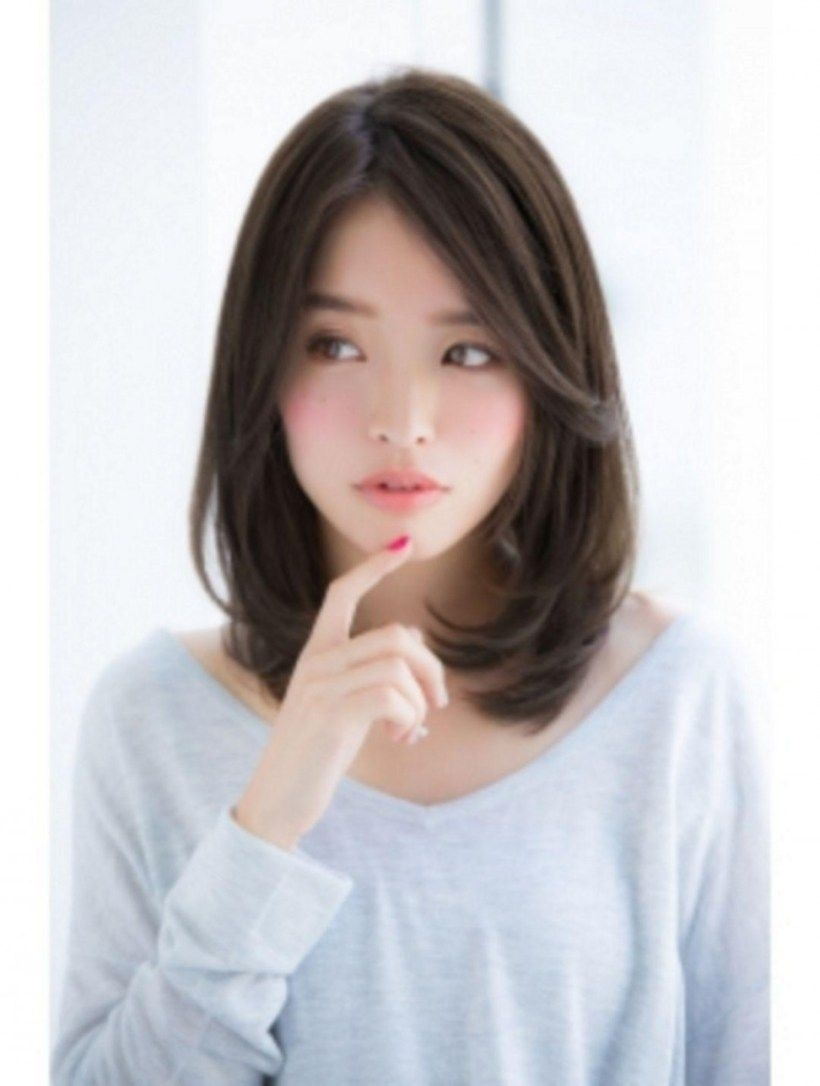 2018-2019 Korean Haircuts For Women - Shapely Korean Hairstyles with regard to Top-drawer Lady Short Hairstyles Asian Round Face