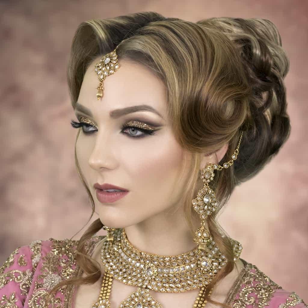 2019 Asian Wedding Hairstyles | London Bridal Hairstylist & Tutor inside Asian Hairstyles For Wedding Party