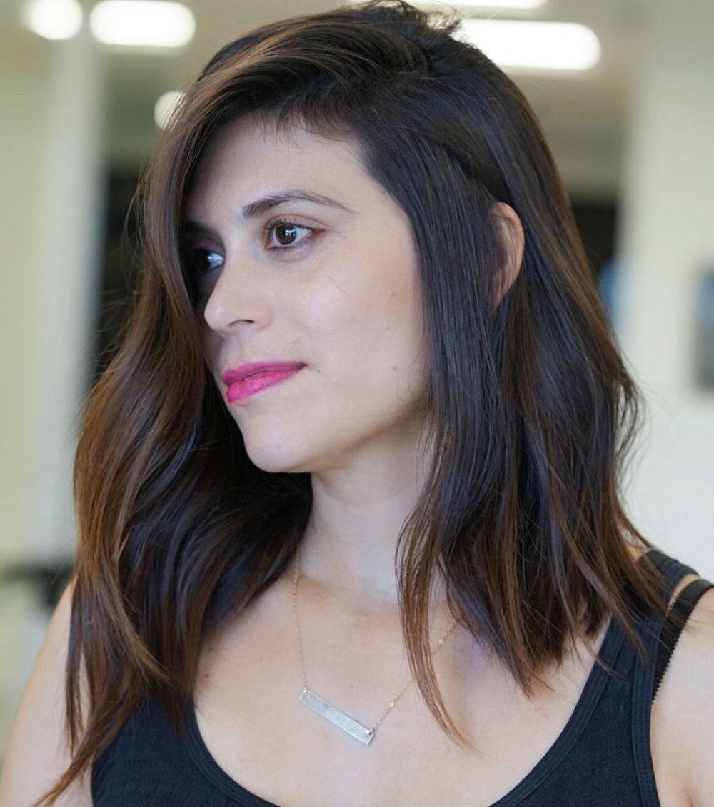 23 Perfect Medium Hairstyles For Square Faces (Popular For 2019) regarding Amazing Asian Hairstyles Female Medium Length
