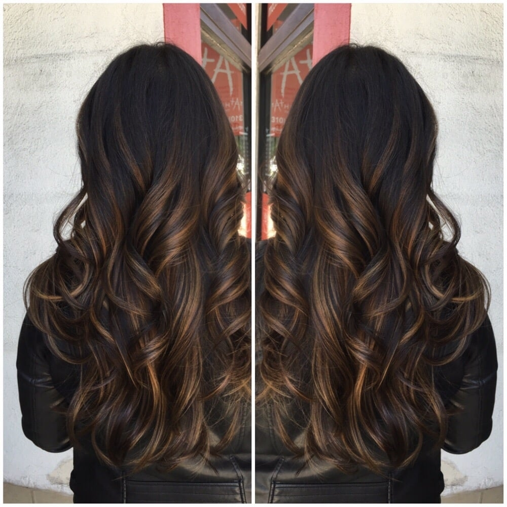 Balayage Highlights On Asian Hair And Haircut - Yelp with regard to Asian Hair With Caramel Highlights
