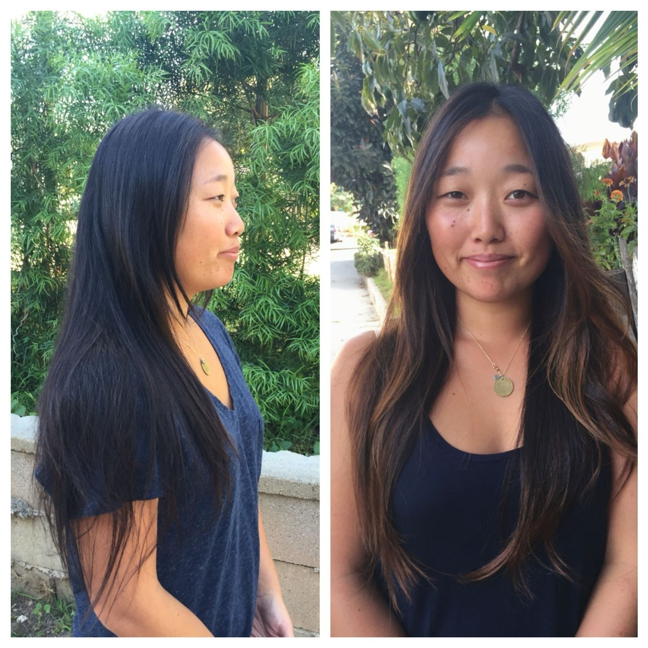 Before And After Sunkissed Asian Hair And Long Layers   Hairstyles inside Asian Hair With Layers