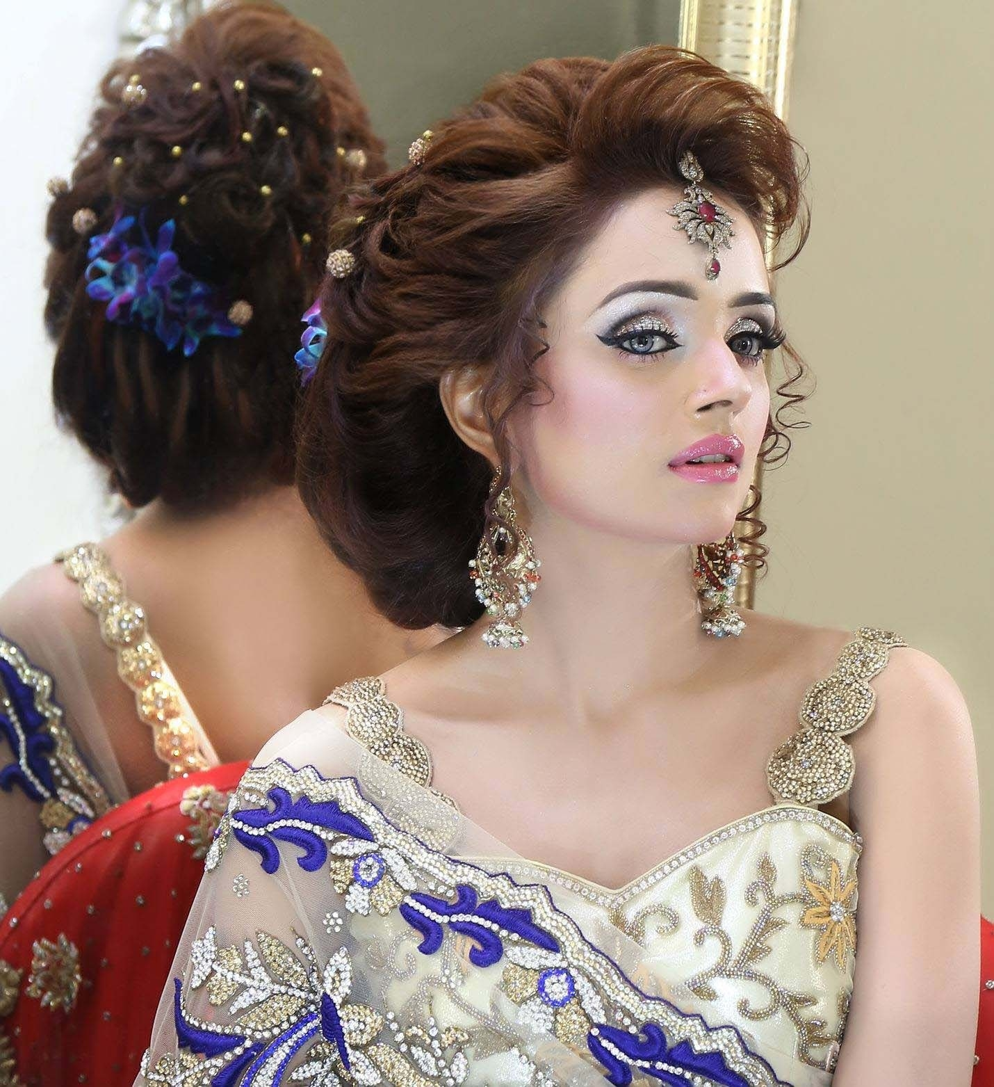 Bridal Hairstyles And Jewelry Designs Ideas | Stylo Planet with Asian Bridal Hairstyles 2018