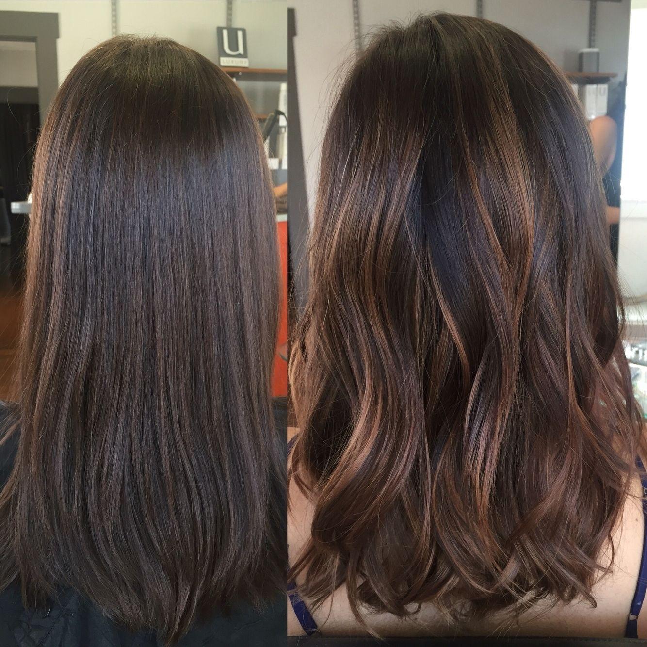 Cinnamon Balayage Highlights! | Rinse Salon. @rinsesalon | Hair in The most ideal Asian Hair With Caramel Highlights