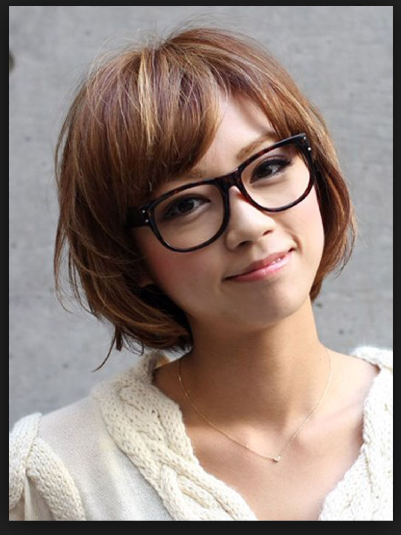 Glasses With A Trendy Bob | Haircuts | Short Hair With Bangs, Cute with regard to Amazing Asian Hairstyle With Glasses