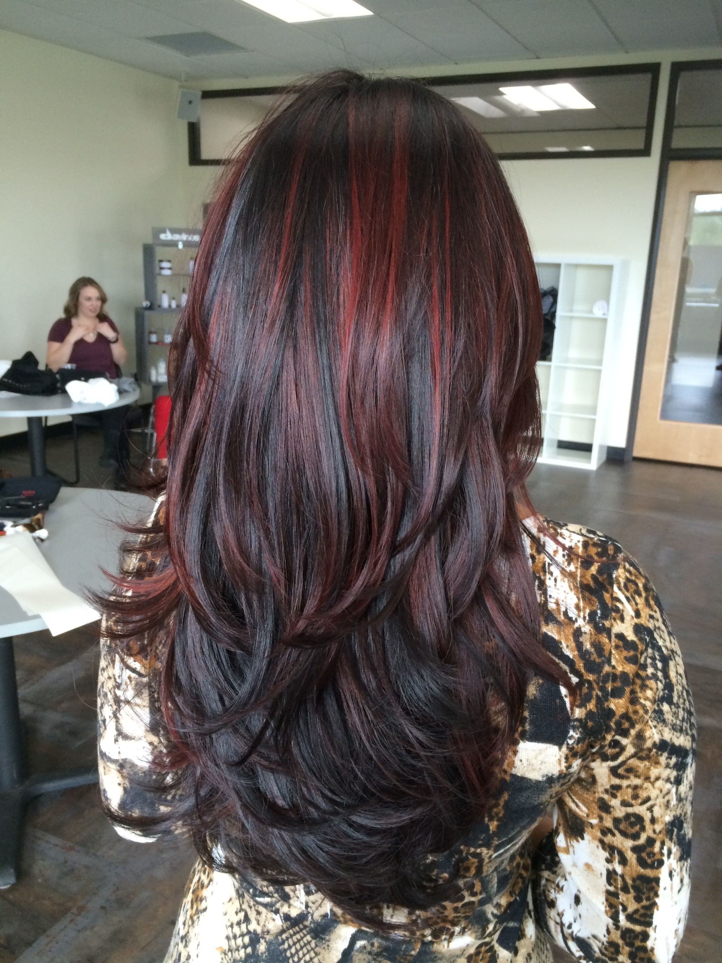 Hairstyles : Caramel Highlights Straight Hair Awe Inspiring with Asian Hair With Red Highlights