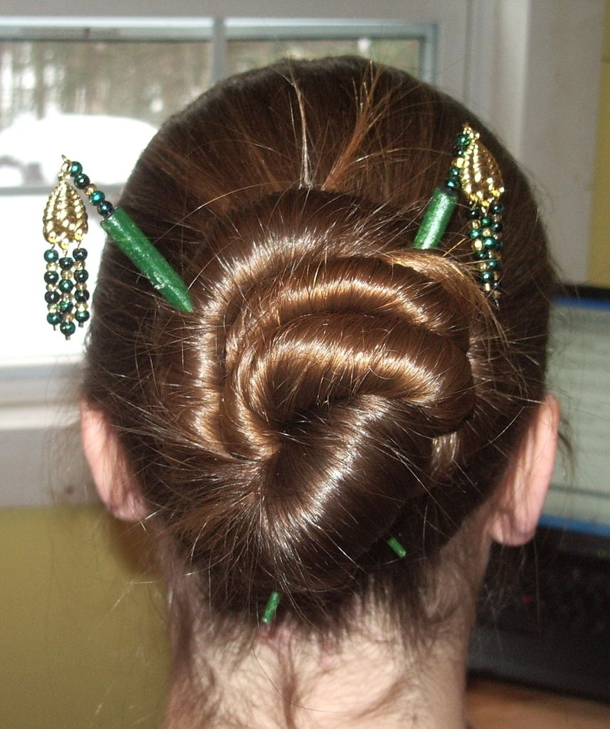 Hairstyles For Hair Sticks: 9 Steps (With Pictures) inside Asian Hairstyles With Chopsticks