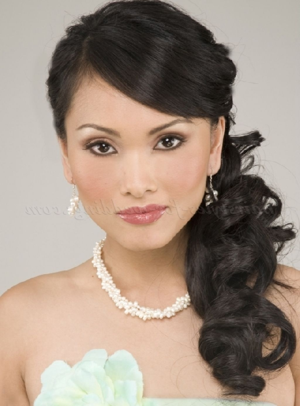 Hairstyles Side Ponytail Hairstyles For Wedding Asian Style With with Superb Asian Bridal Hairstyles For Long Hair