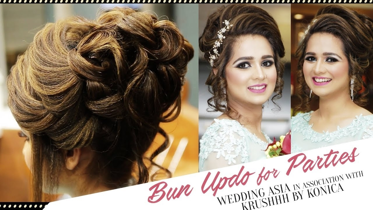 How To Do Bun Updo For Parties? | Hair Bun For Party | Beautiful regarding Asian Hairstyles For Wedding Party