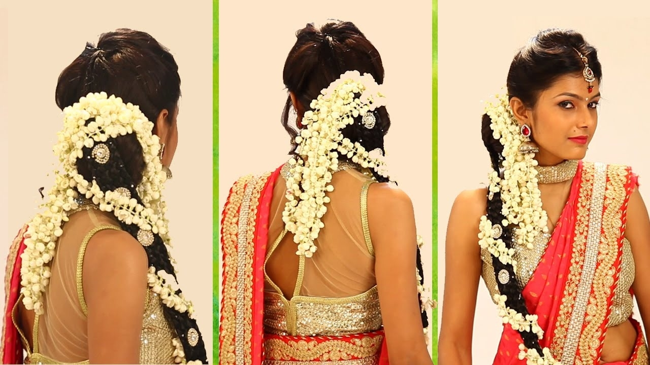 Indian Bridal Hairstyle Step By Step - South Indian Bridal Hair Style For  Wedding & Reception with Bridal Hairstyle In South Indian Style