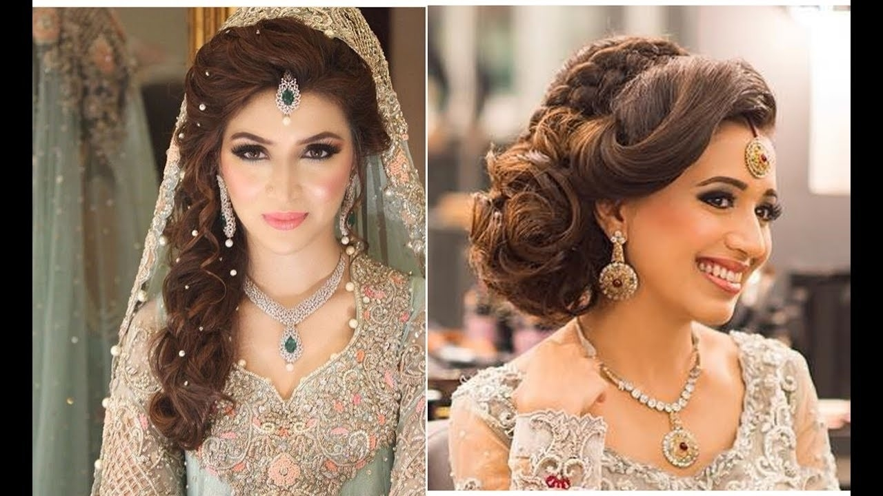 Indian Bridal Hairstyles   Bridal Hairstyles For Asian Wedding - Youtube inside Asian Indian Wedding Hairstyles