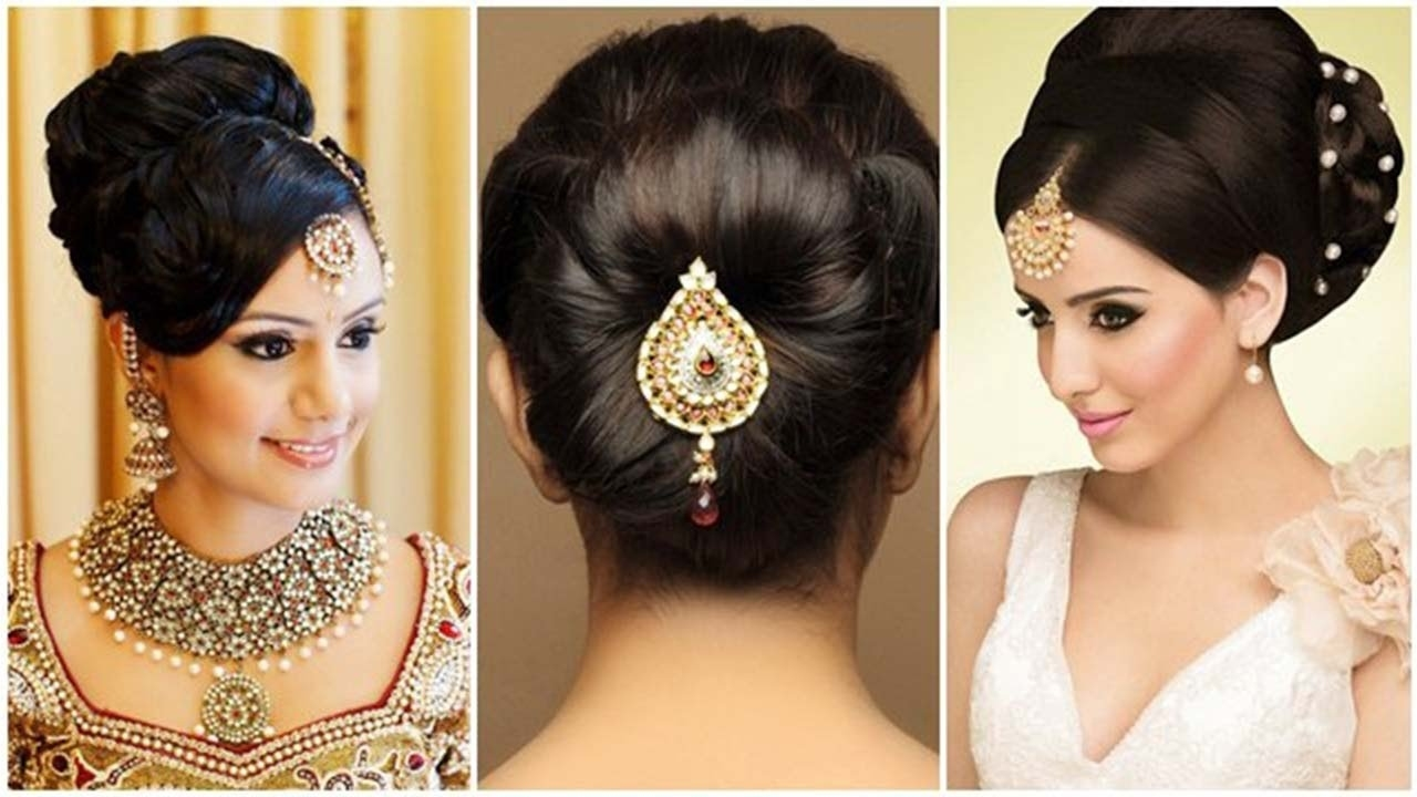 Indian Bun Hairstyles For Medium Hair | Traditional Hairstyles For Indian  Wedding within Bun Hair Style For Indian Wedding