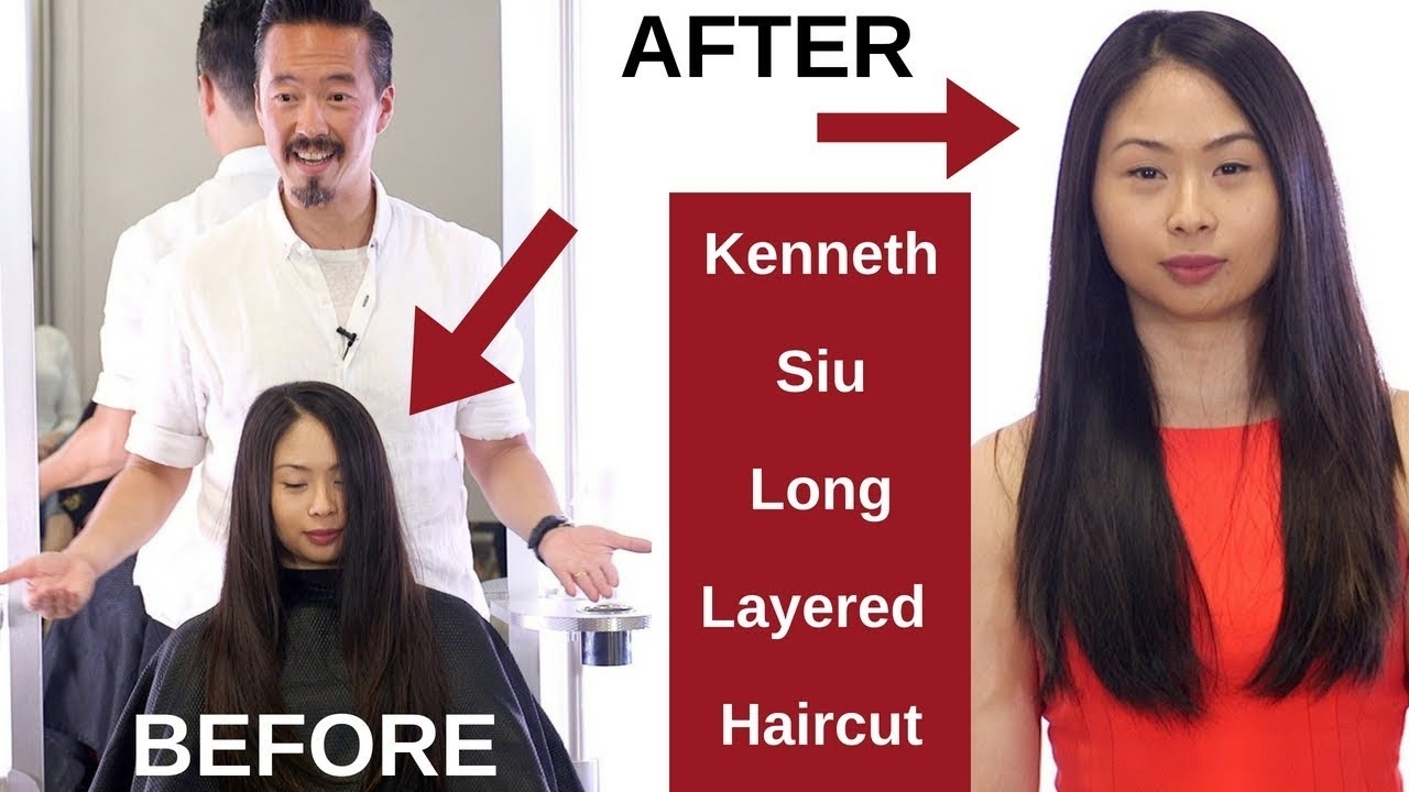 Kenneth Siu Long Layers Haircut On Asian Hair - Thesalonguy - Youtube intended for The best Asian Hair With Layers