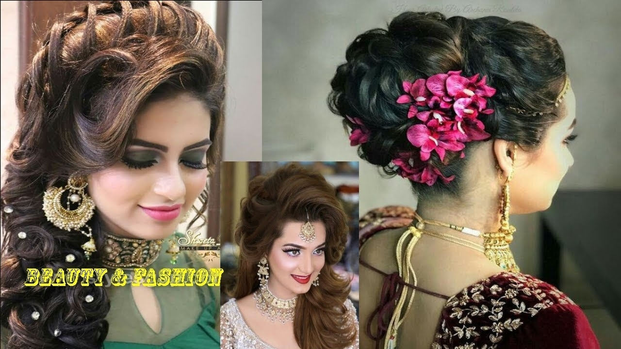 Latest Asian Party Wedding Hairstyles 2018 |Beauty & Fashion - Youtube with Asian Bridal Hairstyles 2018