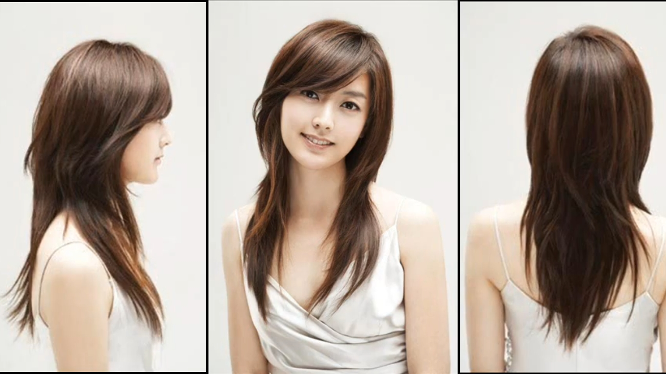 Layered Hairstyles For Oval Faces | Long Side Swept Bangs | Do's In in Premier Korean Hairstyle For Oval Face Female
