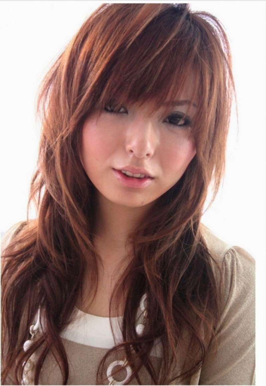 Long Hair Asian Hairstyles Beautiful Asian Layered Hairstyles For with regard to Asian Layered Hairstyles With Bangs