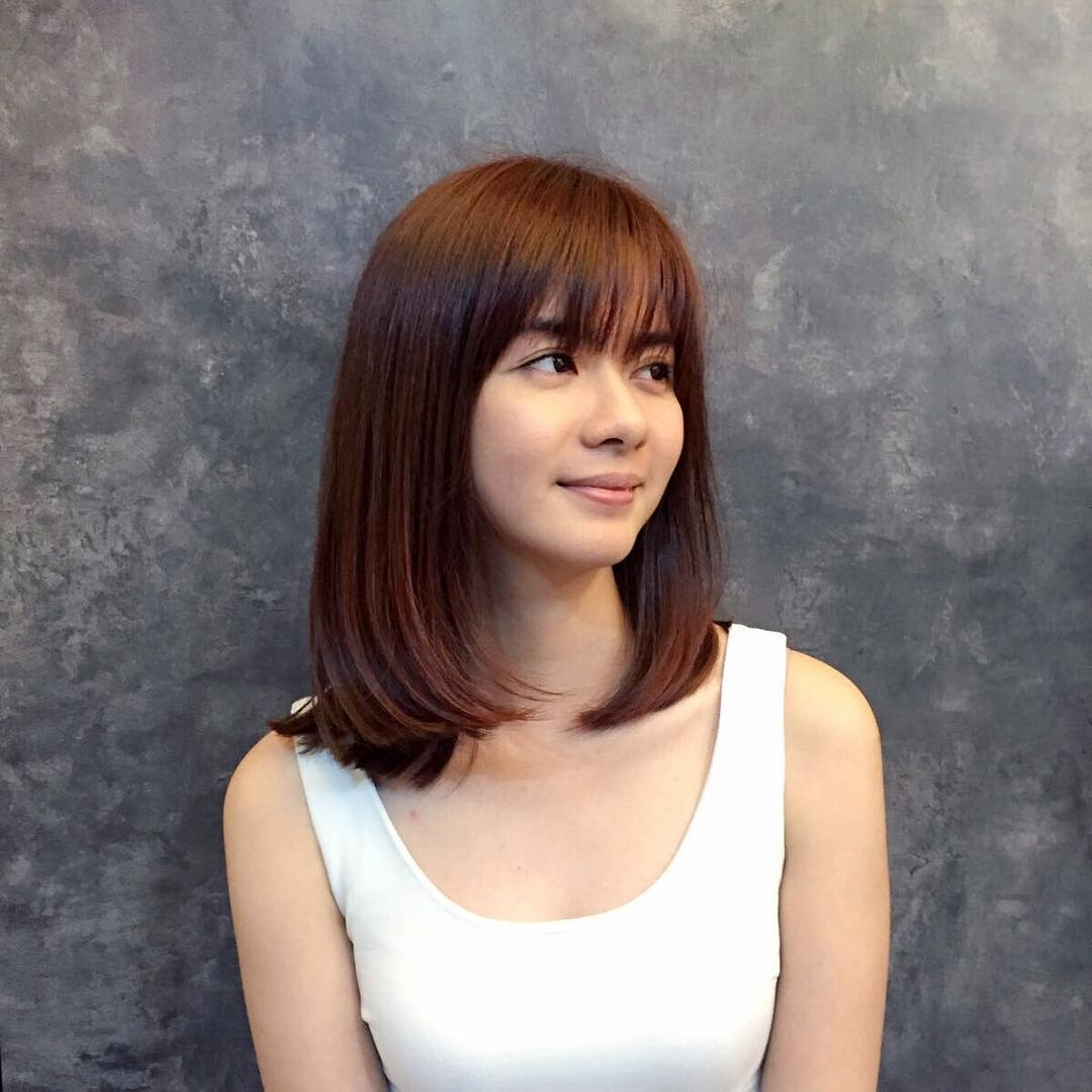 Medium-Length-Bob Hairstyle For Asian Girls 2017 | Styles Weekly intended for The best Asian Womens Hairstyles Medium Length