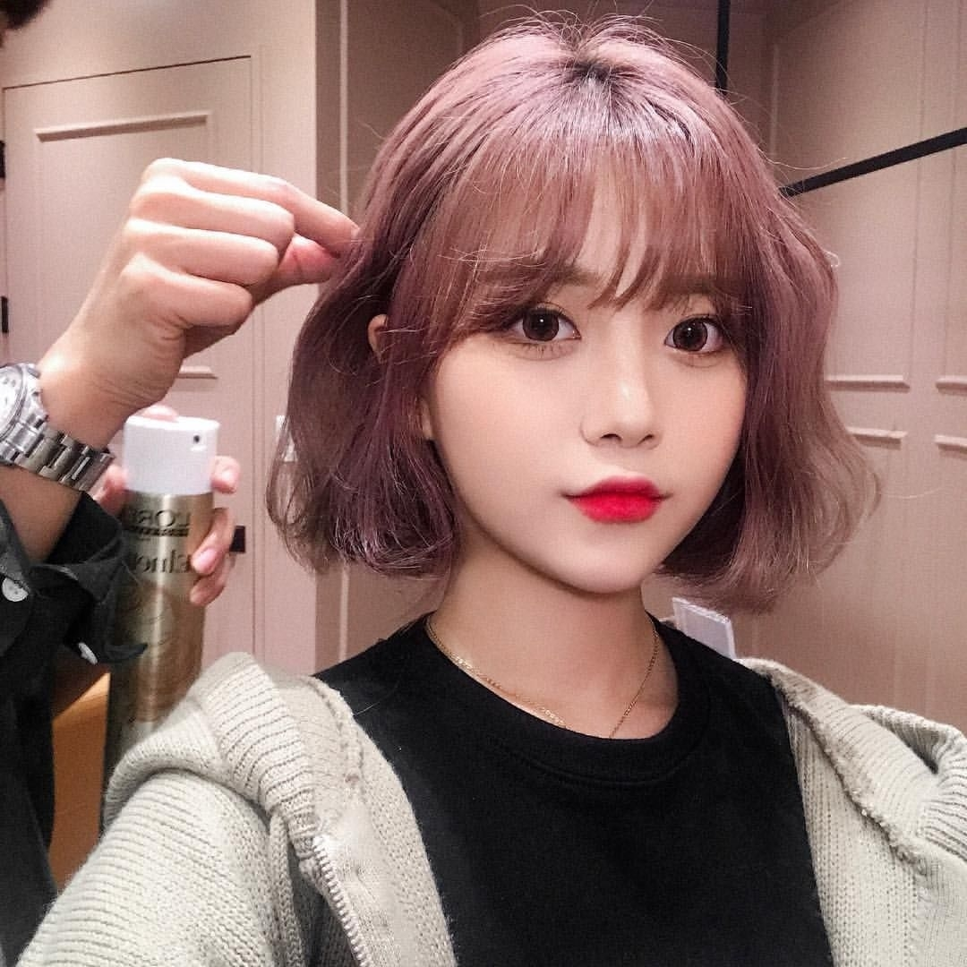 Pin By ˚₊· ͟͟͞͞➳❥ ʚ M⃟o⃟n⃟m⃟o⃟n⃟ ɞ ? On pertaining to The most ideal Asian Short Hairstyles With Bangs