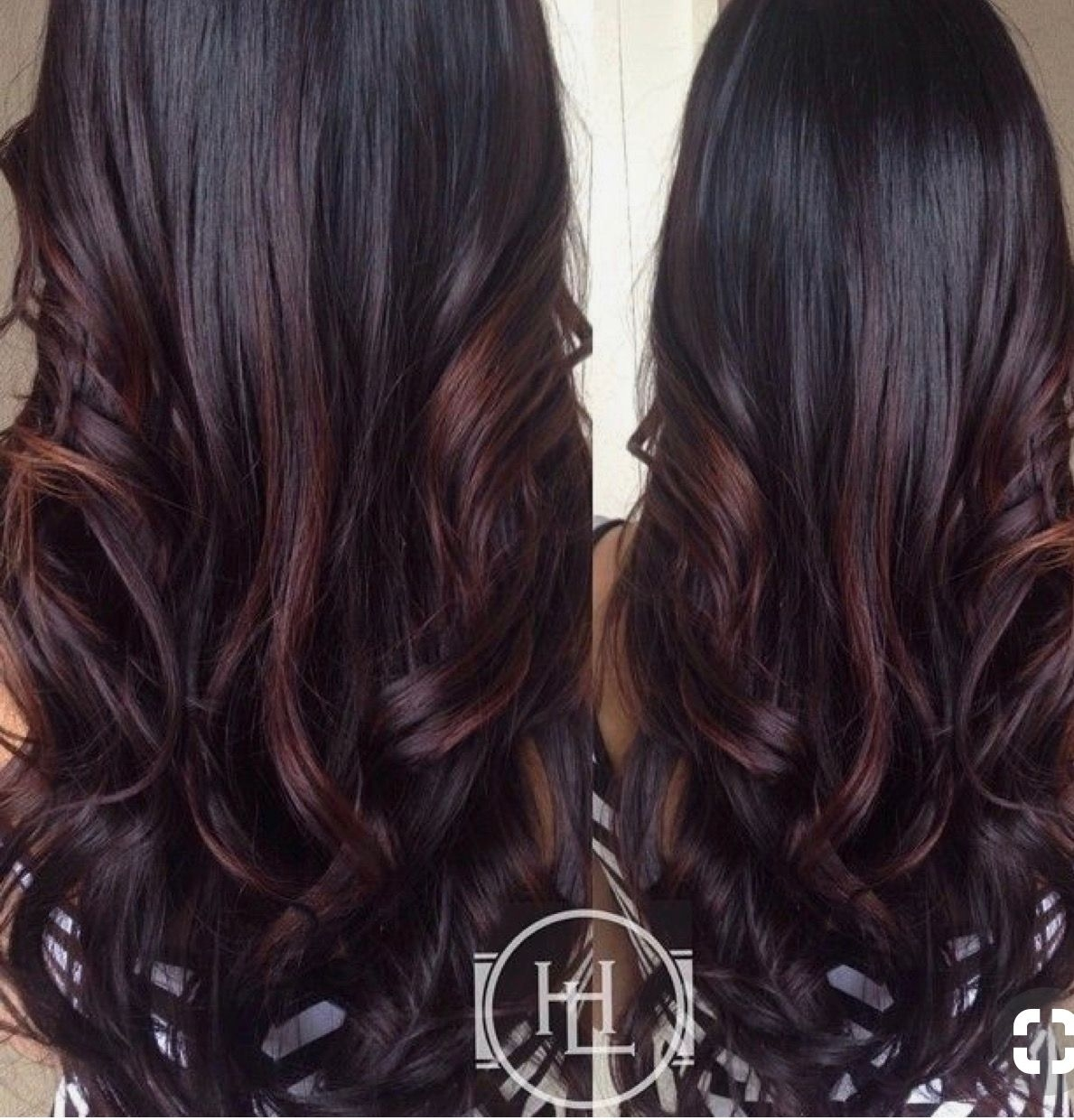 Pin By Megan Cyr On Hair Styles | Hair, Long Dark Hair, Hair Color intended for Asian Hair With Red Highlights