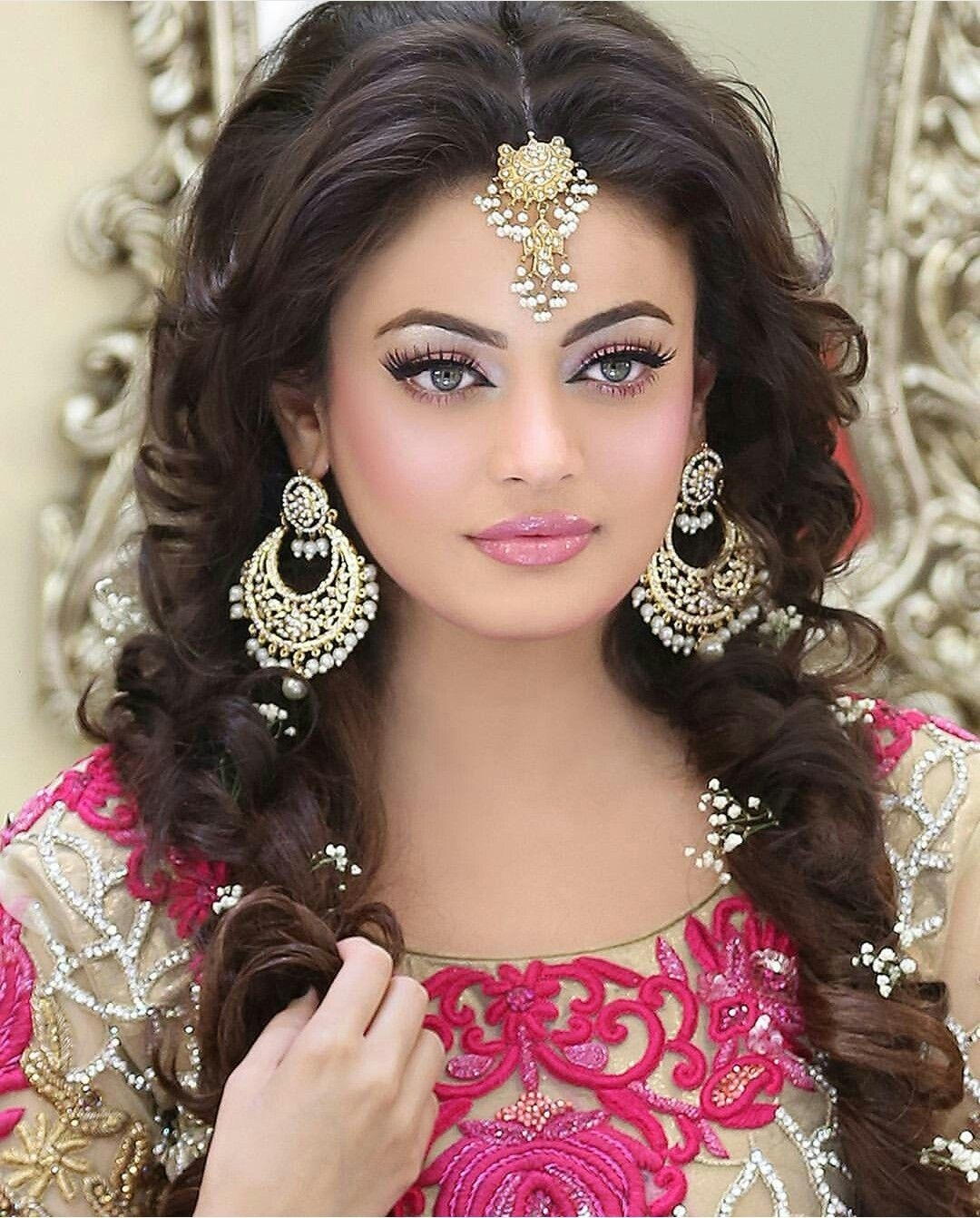 Pin By Moosa Sami Khan On Asian Bride   Indian Wedding Jewelry within Superb Asian Indian Wedding Hairstyles