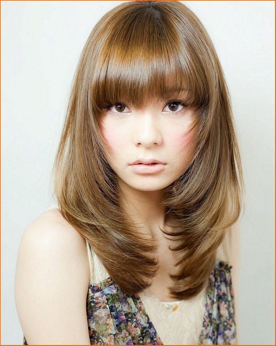 Pin By Nazia Ahmad On Designer Dresses | Medium Hair Styles, Medium regarding Korean Bangs Hairstyle For Round Face
