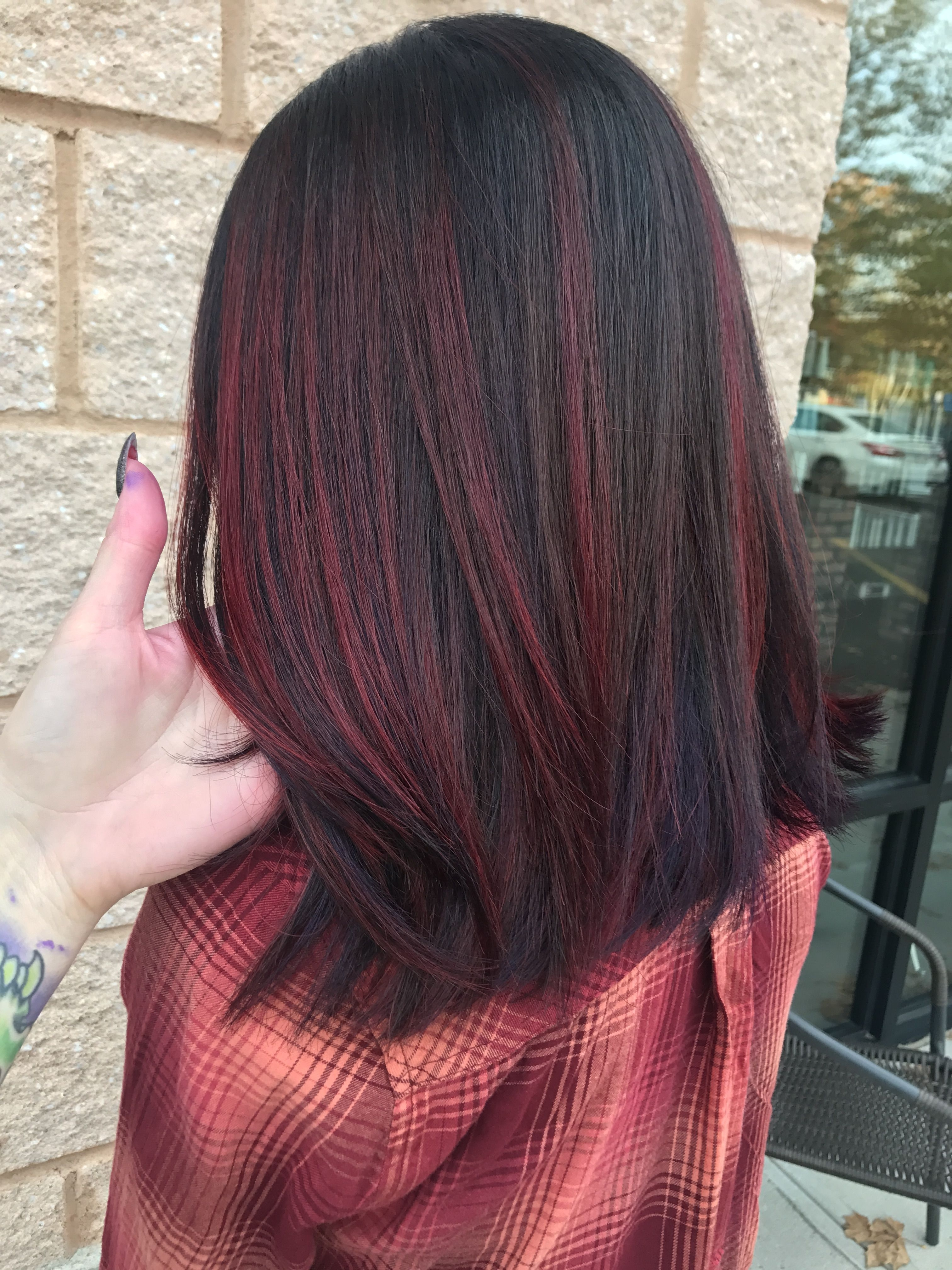 Pin By Veerle Bonne On Hair In 2019 | Dyed Hair, Balayage Hair, Hair inside Asian Hair With Red Highlights
