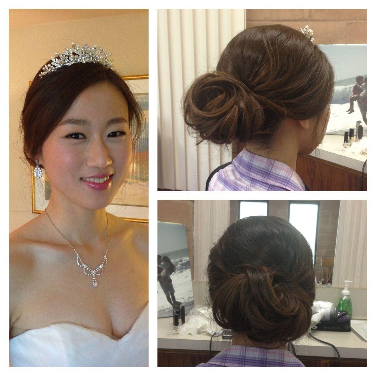 Romantic Low Bun - Asian Hair - Wedding - Korean Wedding - Bridal throughout Amazing Wedding Hairstyles For Asian Hair