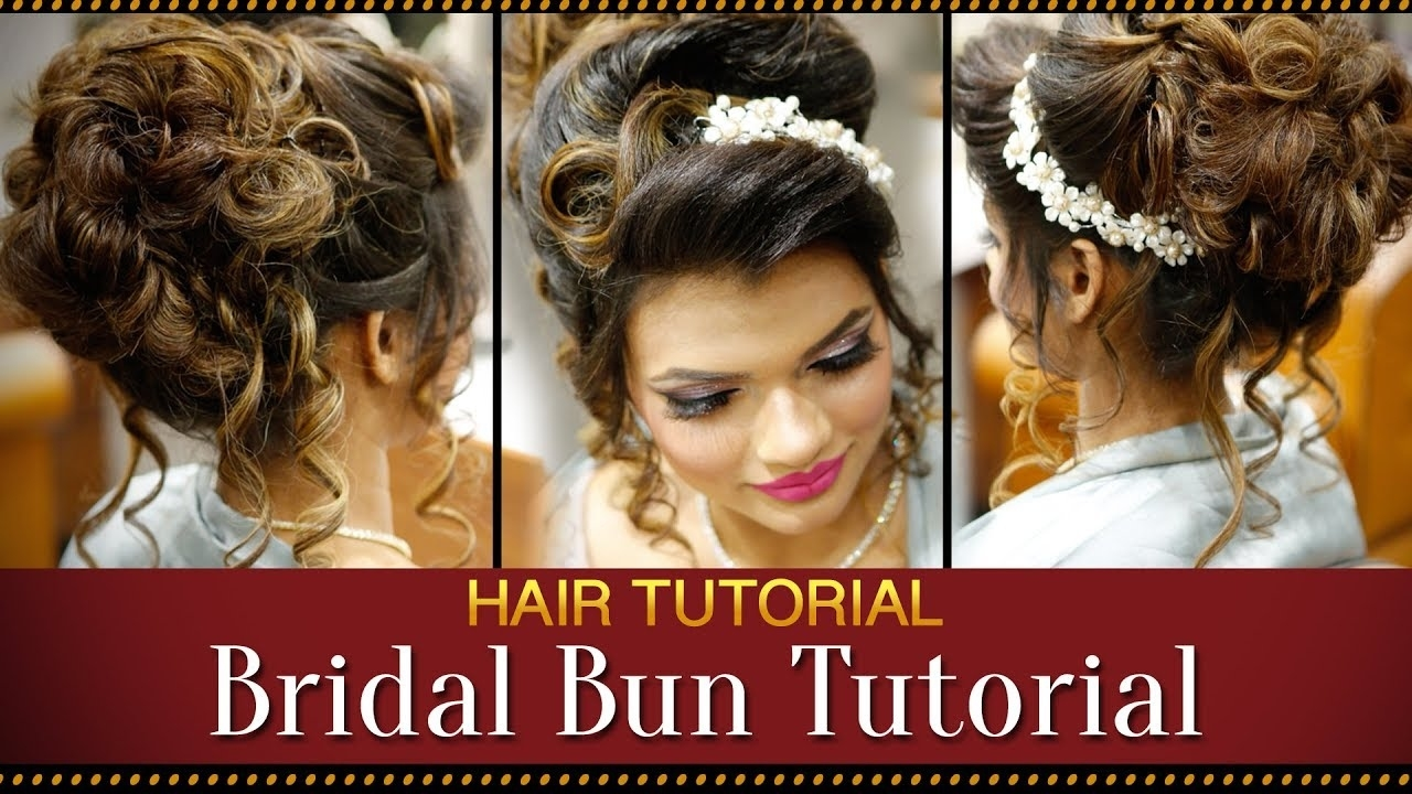 Step By Step Indian Bridal Bun Hairstyle Tutorial Video   Bridal intended for Superb Asian Indian Wedding Hairstyles