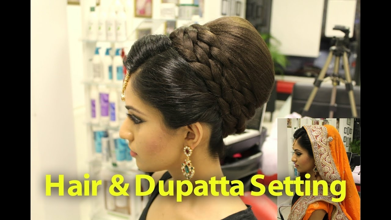 Tutorial: Indian, Pakistani, Asian Bridal Hair Style - Youtube with Top-drawer How To Do Asian Bridal Hairstyles