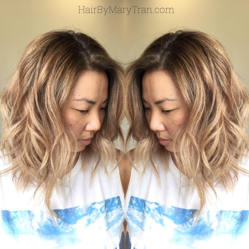 Warm Blonde Highlights On Asian Hair With An Ashy Shadow Root - Yelp pertaining to Asian Hair With Blonde Highlights