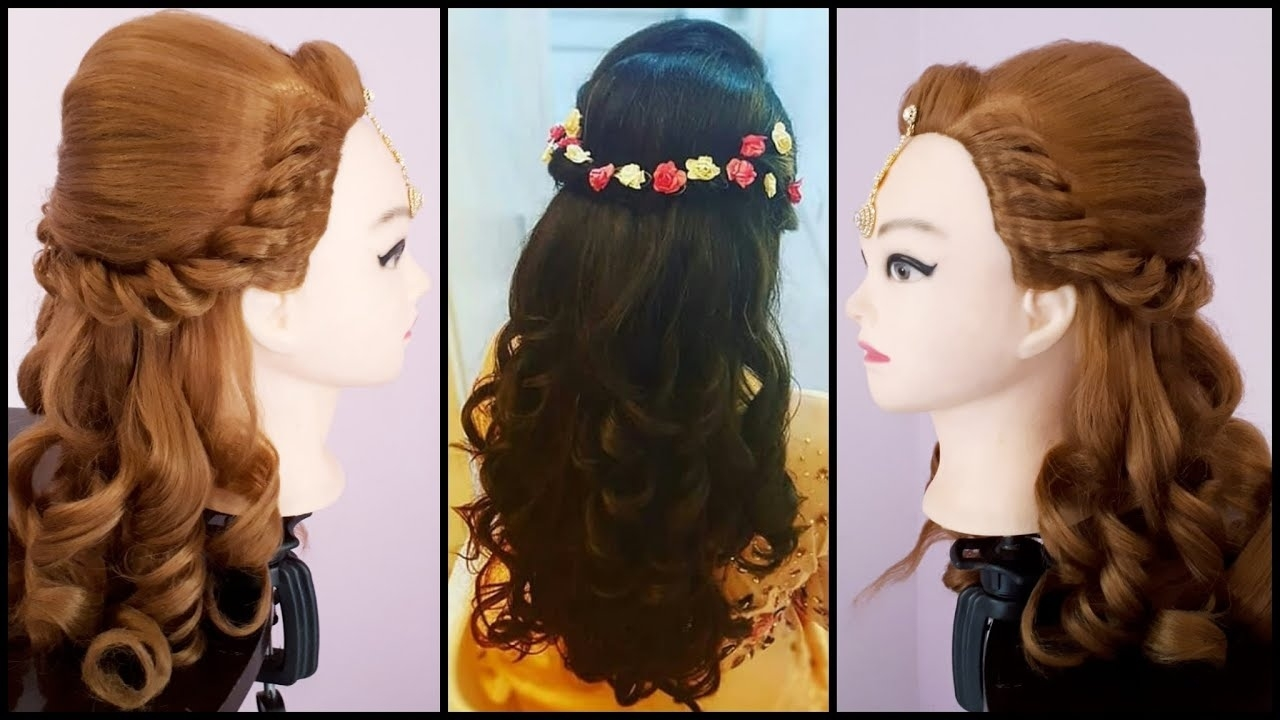 Wedding Hairstyle    Asian Wedding Hairstyles    Easy Wedding Hairstyle     Curly Hairstyles in Superb Asian Bridal Hairstyles For Long Hair