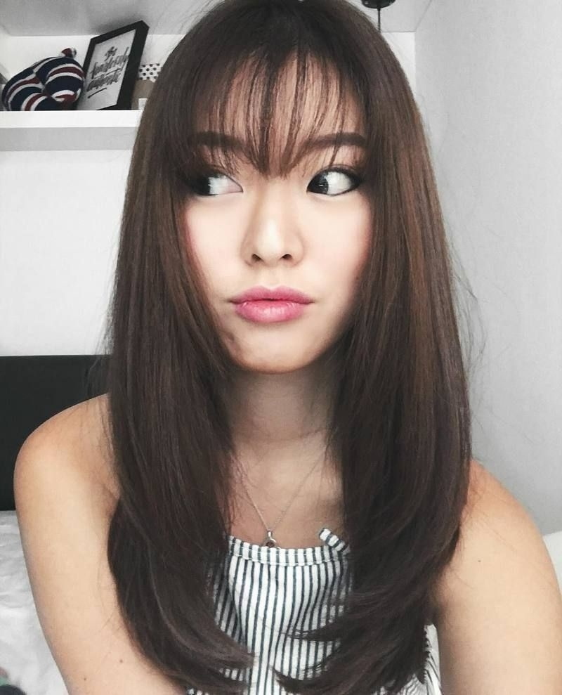 Women Hairstyle : Best Fringe Styles For Korean Hairstyle Delectable in Amazing Asian Bangs Hairstyle