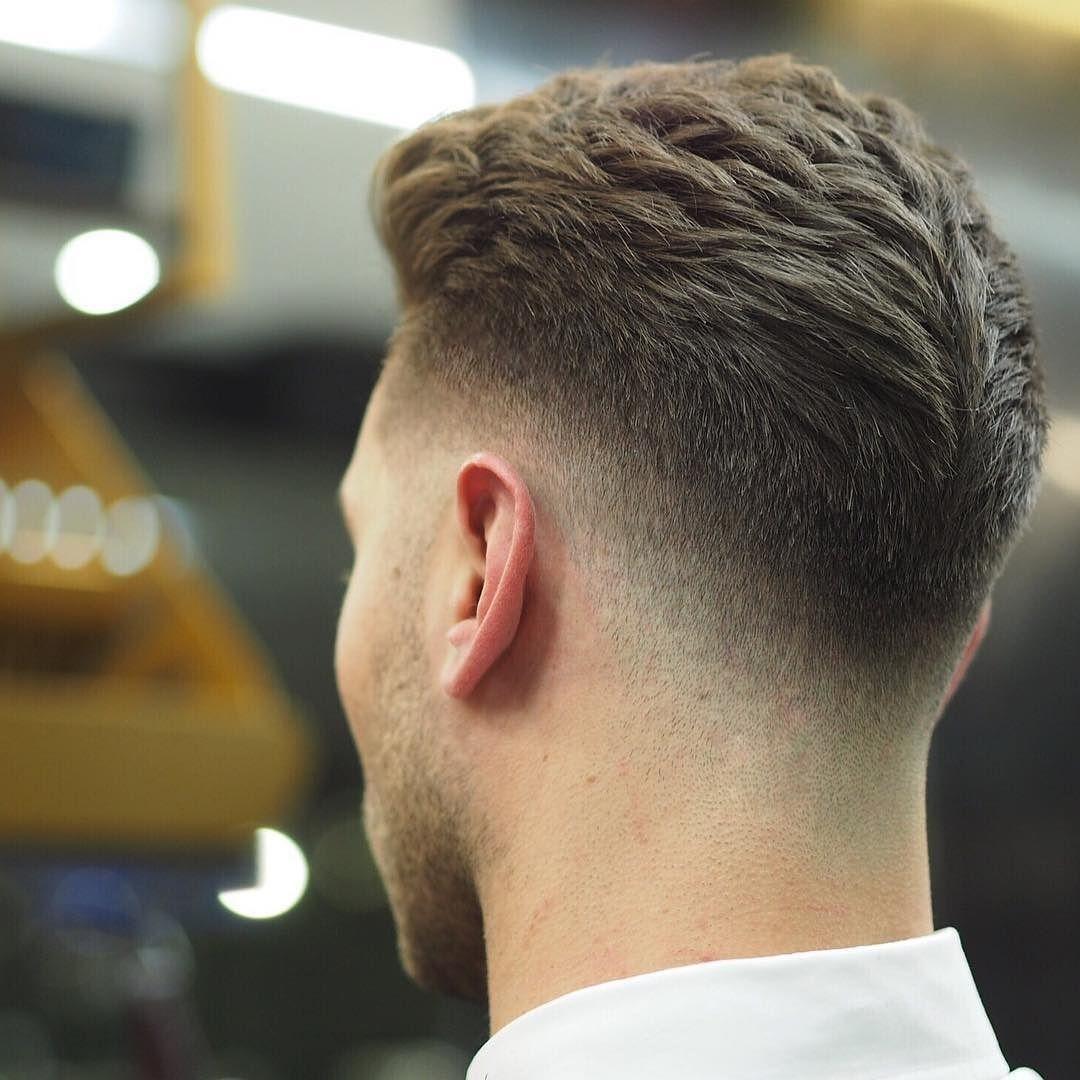 White Boy Hood Fade Hair Cut - Wavy Haircut