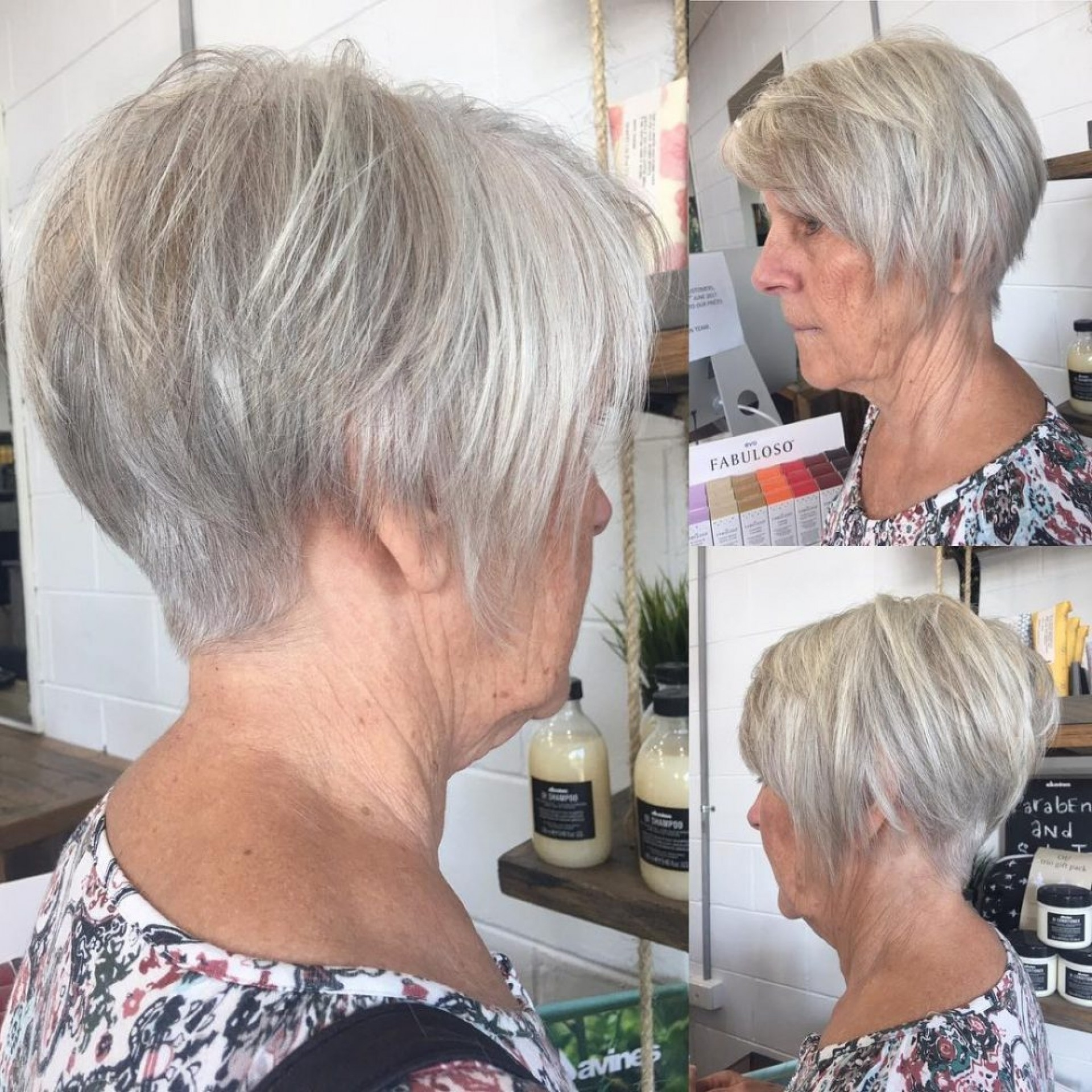 hairstyles for thin graying hair - wavy haircut