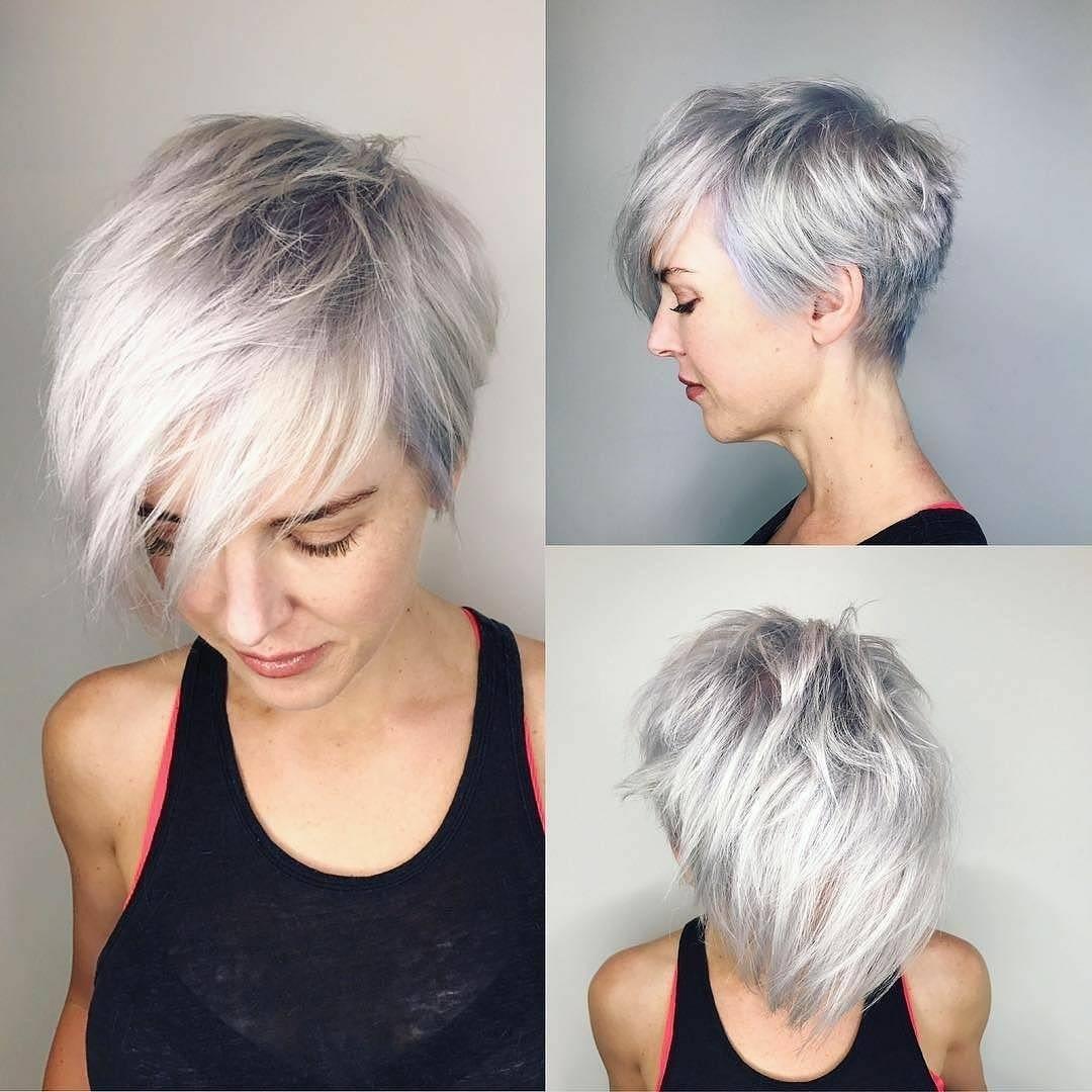 10 Latest Short Haircut For Fine Hair 2019 & Stylish Short within Short Haircuts For Fine Gray Hair
