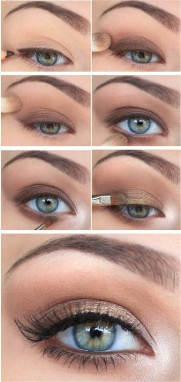 10 Step By Step Makeup Tutorials For Green Eyes - Her Style Code within Makeup Tutorial For Green Eyes