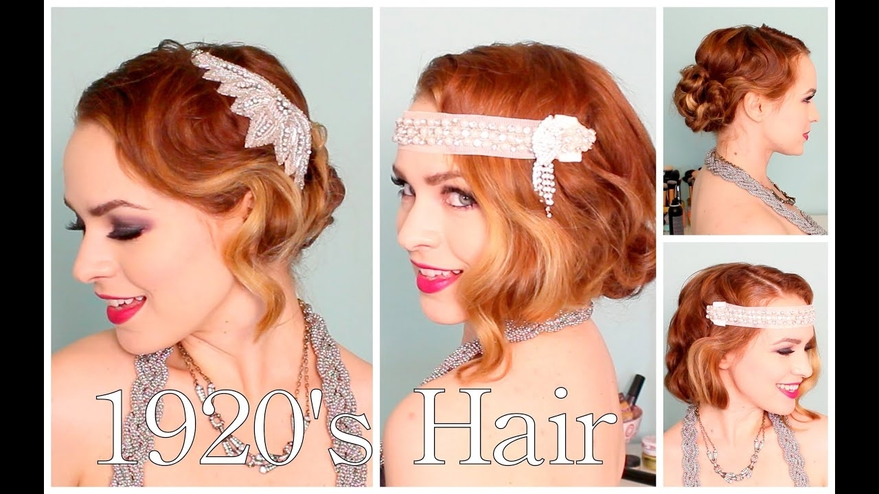 1920's Faux Bob, And Updo Tutorial!! with 1920 Hair For Long Hair