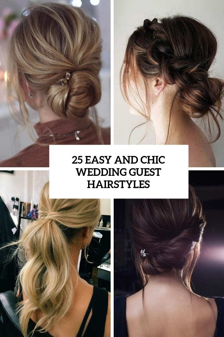 25 Easy And Chic Wedding Guest Hairstyles - Weddingomania intended for Easy Hairstyles For Wedding Guest For Straight Hair