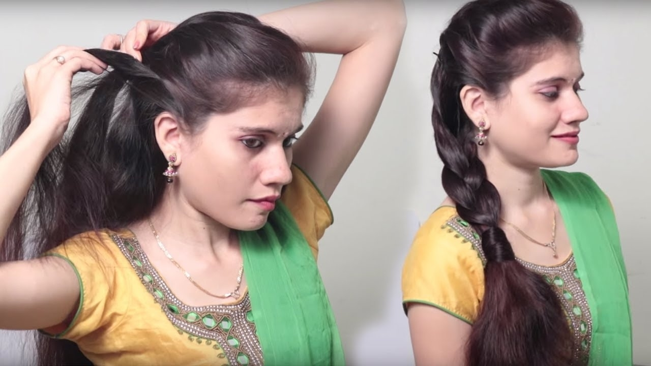 3 Different Party Hairstyle At Last Minute || Indian Wedding Hairstyles  Videos | Diy Hairstyles regarding Indian Hairstyle Step By Step Videos