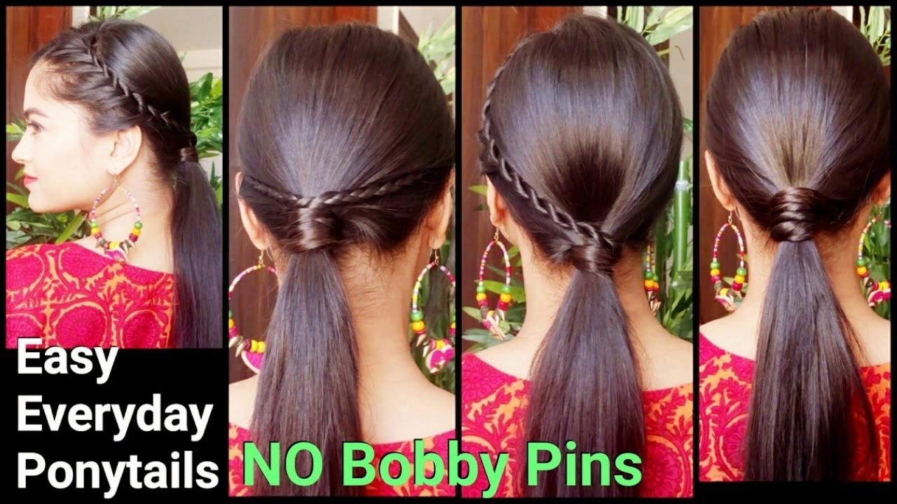 3 Easy Everyday Ponytail Hairstyles For Medium To Long Hair For Diwali//  Indian Hairstyles with Indian Ponytail Hairstyles For Long Hair