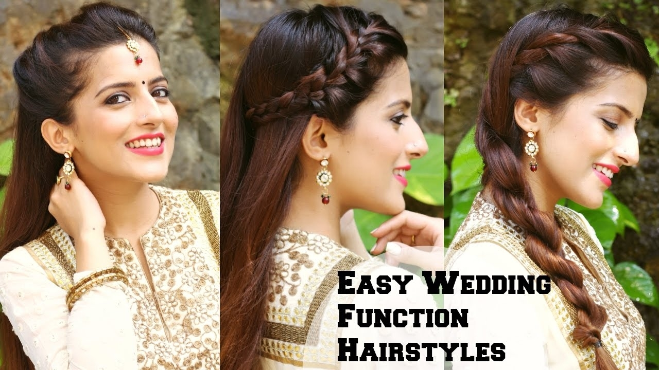 3 Easy Hairstyles For Indian Wedding Occasions For Medium Hair / Indian  Party Heatless Hairstyles inside Indian Hairstyle For Wedding Function