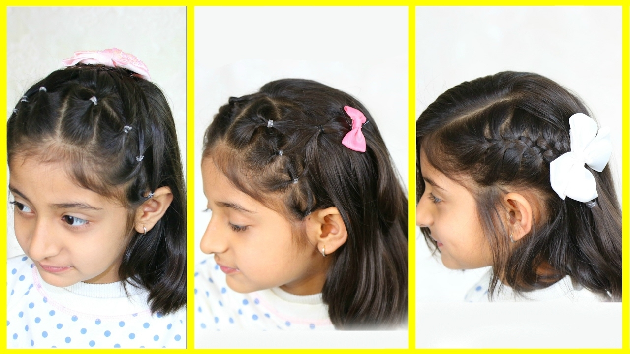 3 Simple & Cute Hairstyles For Medium Hair | Mymissanand with Indian Hairstyle For 5 Years Old Girl