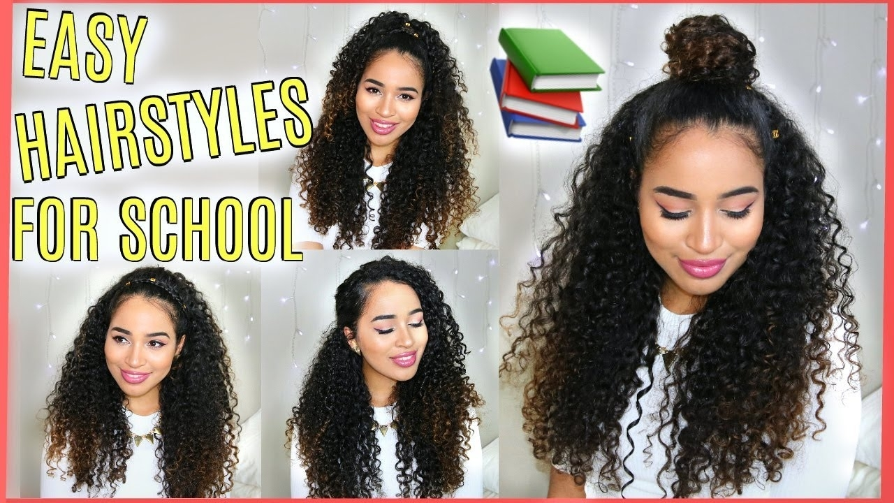 4 Buildable Back To School Hairstyles For Naturally Curly Hair - Lana Summer regarding Curly Hair Styles For School
