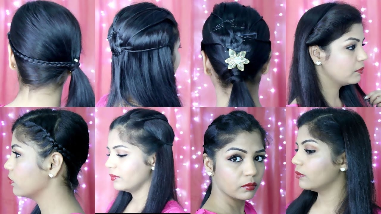 4 Quick And Easy Hairstyles | Indian Party Heatless Hairstyles | Superprincessjo for Indian Hairstyle For Short Hair